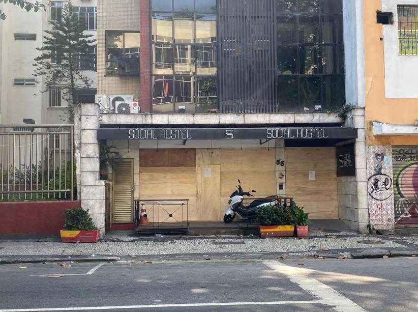Hostel na Rua Francisco Otaviano, no Arpoador