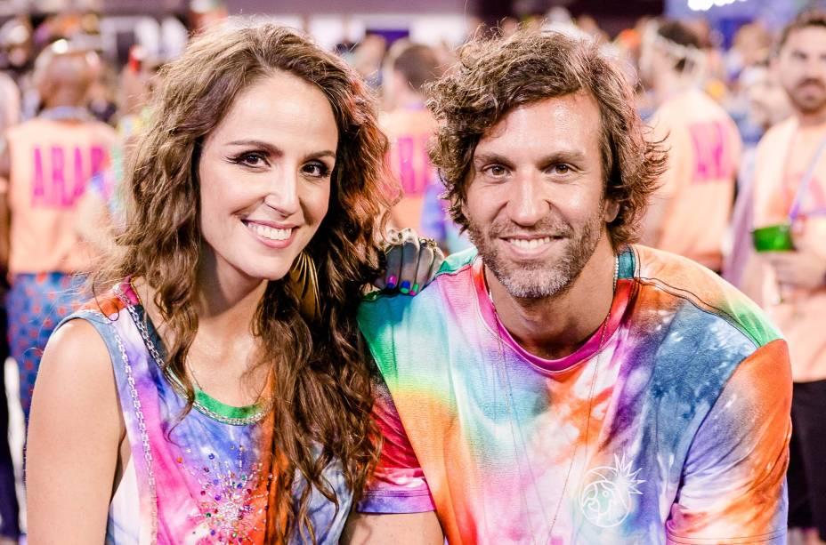 """Os sócios Malu Barretto e Pedro Igor Alcântara levaram o clima do Baile da Arara para a Sapucaí:""""Foi muito bacana ver o resultado de um trabalho tão pensadoe planejado"""", avaliou Malu"""