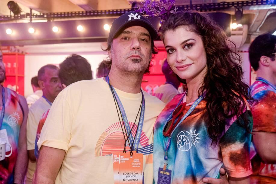 O cineasta Mauro Lima e Alinne Moraes