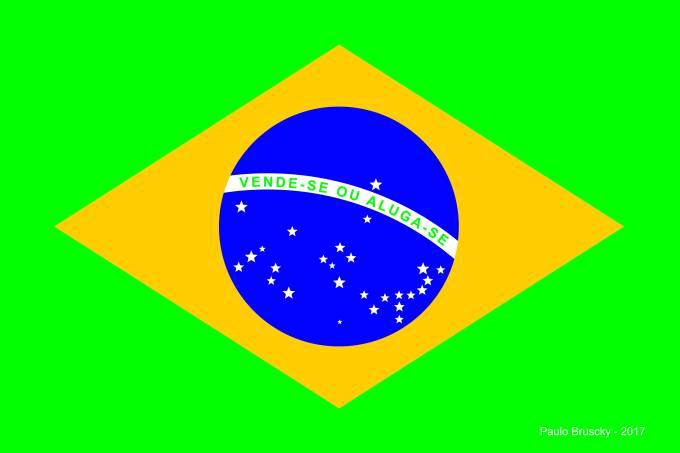 Paulo Bruscky_Brasil vende-se ou aluga-se_2017_Risografia s papel_42x59,5cm