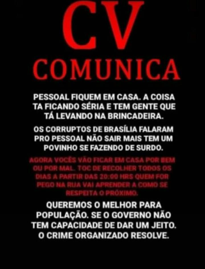 Coronavírus: traficantes ordenam toque de recolher na Rocinha