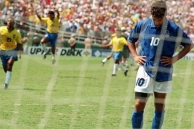 Baggio perde pênalti contra Brasil
