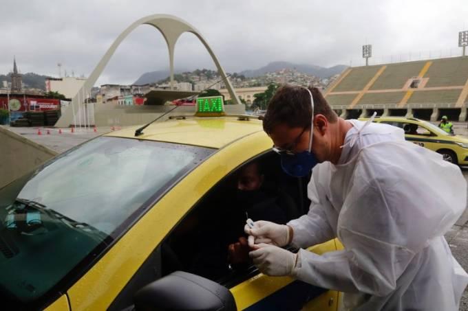 teste covid taxi