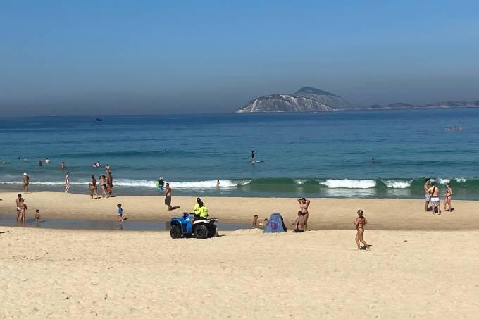 praia ipanema quarentena