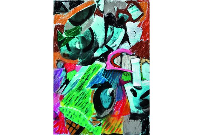 Luiz Aquila: arte original se transformou na capa da Veja Rio, edição de junho