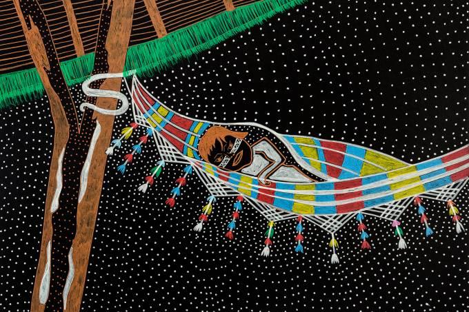 YERMOLLAY CARIPOUNE Série As Transformações do Criador Temerõ e Seu Irmão Gêmeo Laposié que Falam do Algodão na Nossa Cosmologia, 2019 Foto Edson Kumasaka