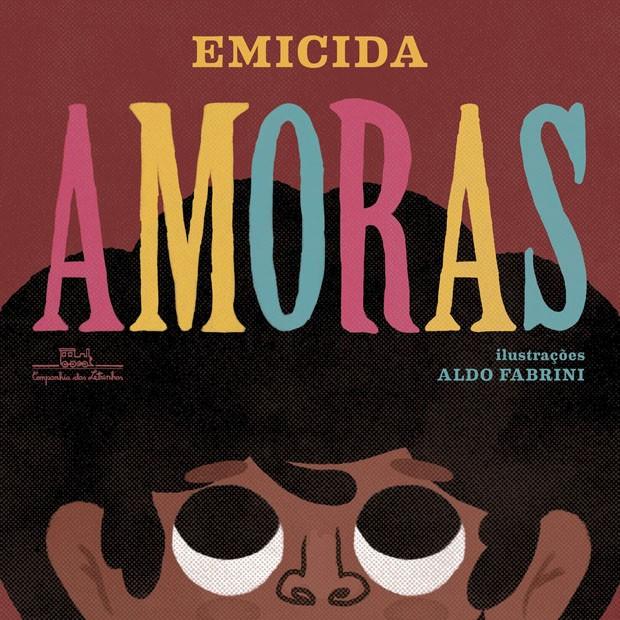 capa do livro amoras, de emicida, traz uma menina negra com olhar vivo