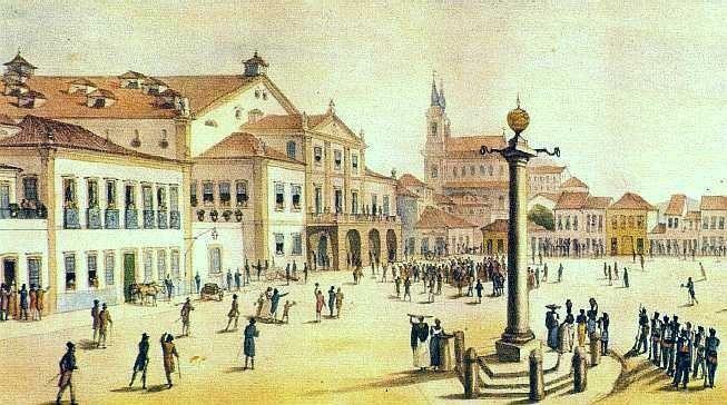 Vista-do-Teatro-Real-de-So-Joo-do-Rio-de-Janeiro-por-Debret-1834