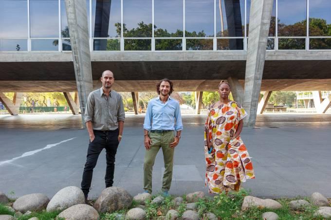 MAM Rio – Pablo Lafuente, Fabio Szwarcwald e Keina Eleison (3) – Foto Fabio Souza