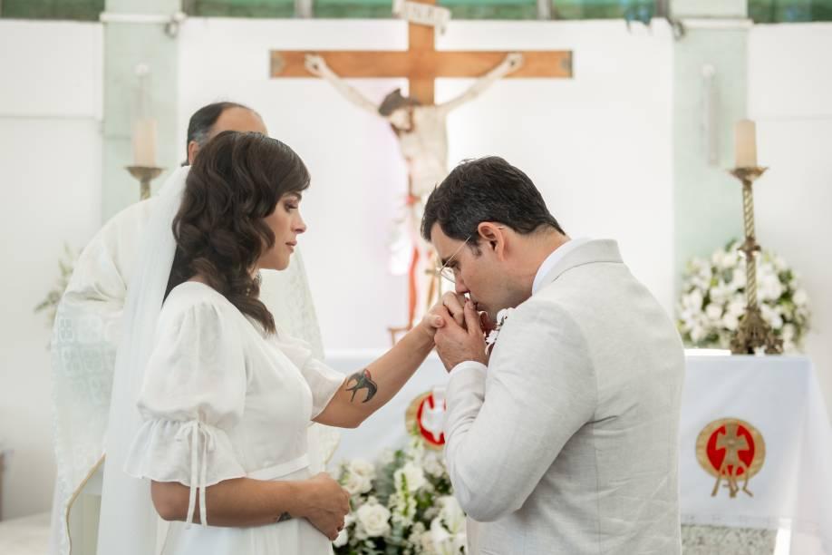 Casamento intimista de Leticia e Juliano Cazarré