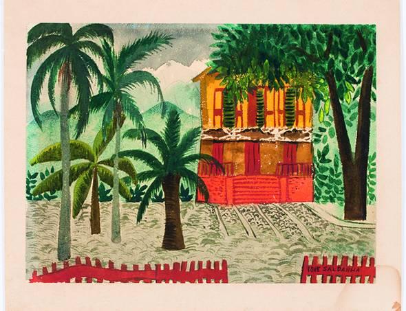 MAR – Casa Carioca – Ione Saldanha Sem Título, Sem data Aquarela sobre papel (1)