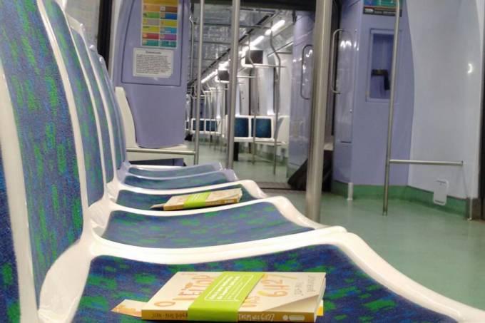 SuperVia – Trem da leitura 1ª edição (2015) – livros nos trens
