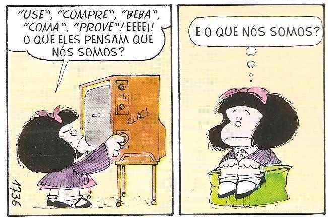 Tirinhas – Mafalda Televisão