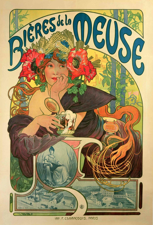 Alphonse Mucha: cartazes publicitários produzidos no fim do século XIX marcaram época
