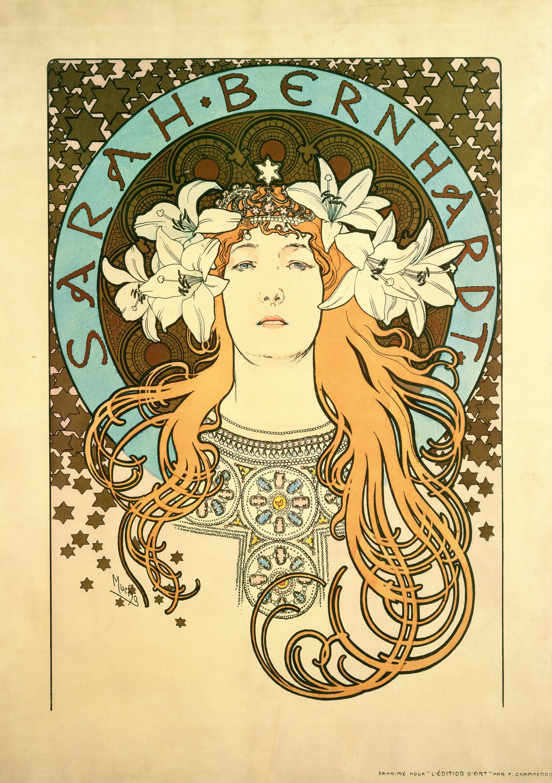 Sarah Bernhardt: atriz francesa foi retratada por Mucha