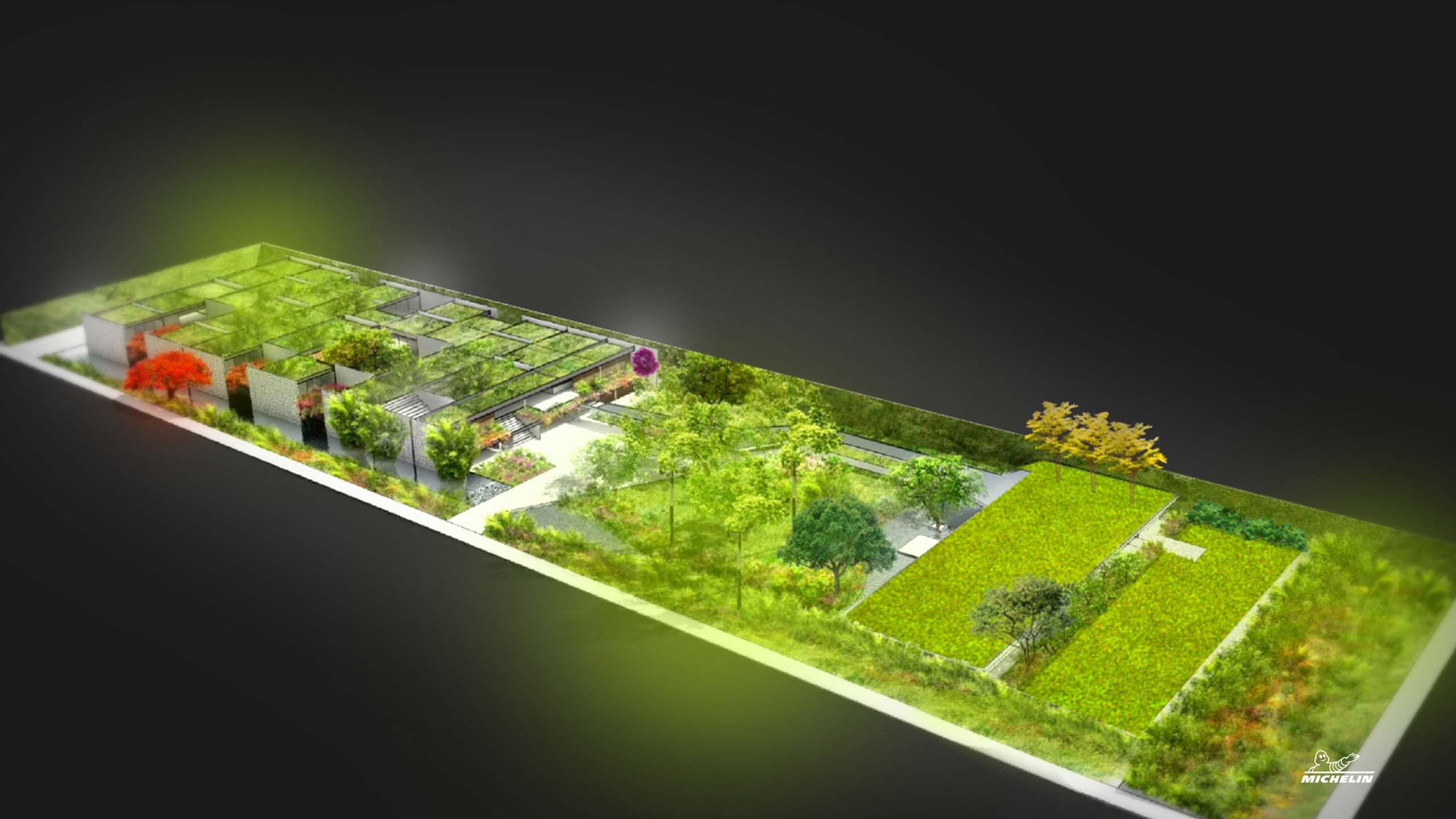 Projeto do jardim do novo museu casa do pontal