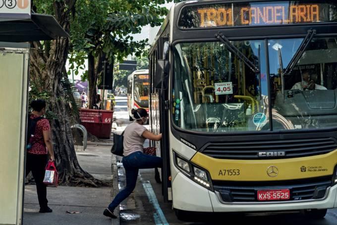 Transporte público movimentação