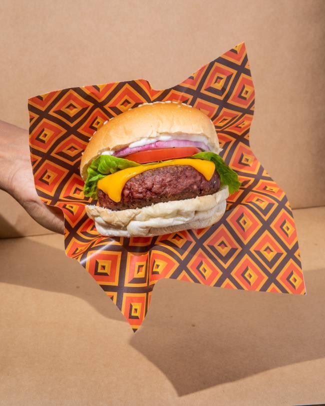 Hambúrguer feito de planta
