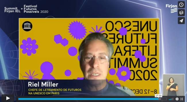 Riel Miller chefe de Letramento de Futuros na Unesco, em palestra na Casa Firjan
