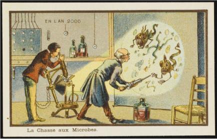 Ilustração de Jean Marc Coté, que pertence a uma série de cartões postais feita por artistas franceses do século XIX, numa tentativa de vislumbrar o mundo no ano 2000
