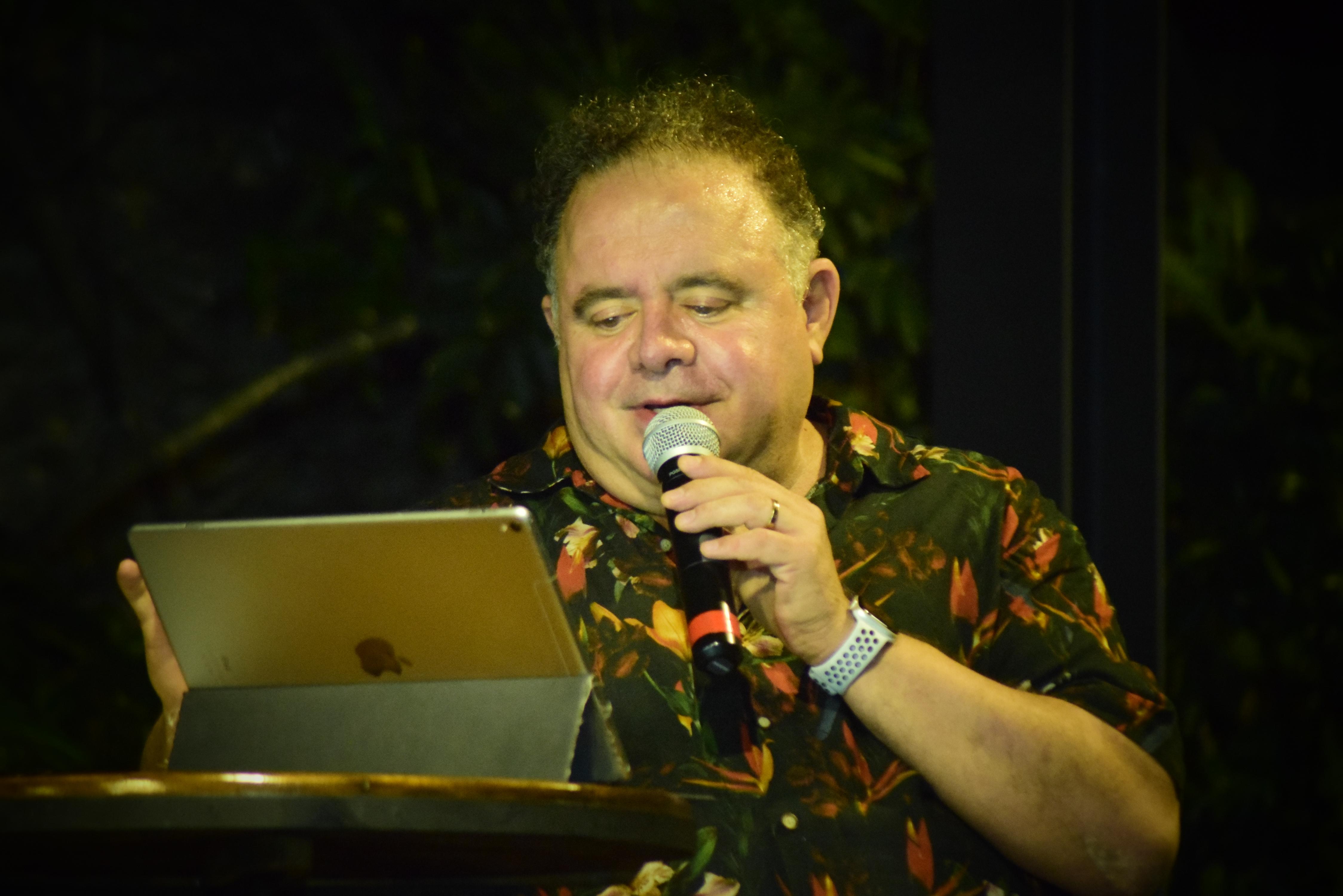 Leo Jaime, que também é um famoso gourmet, apresentou as homenagens na Casa da Glória