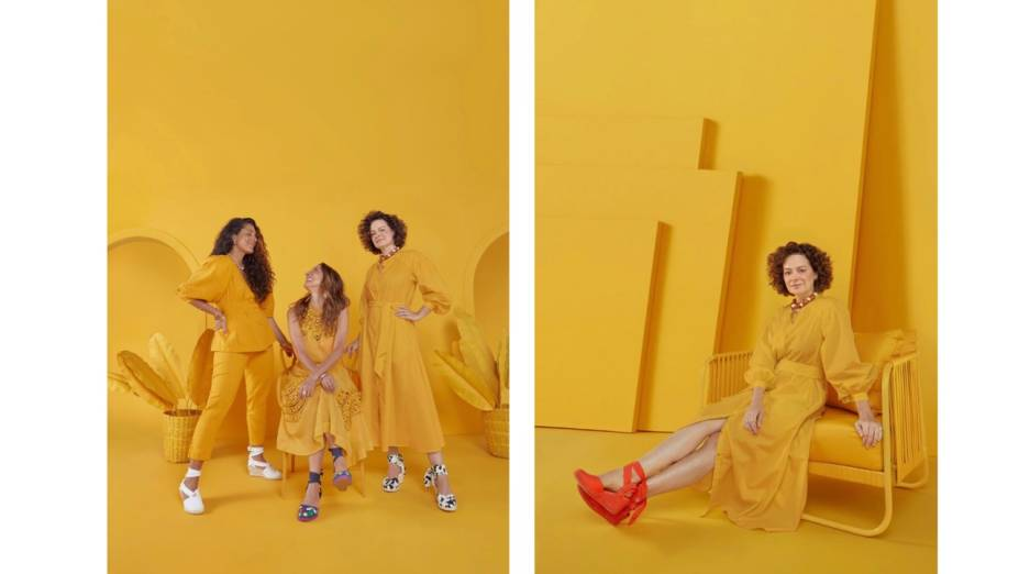 Julia Gastin, Isabela Capeto e Andrea Marques na campanha da collab para Mr.Cat