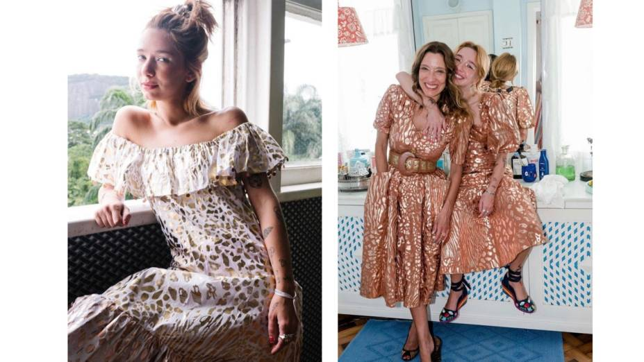 Isabela Capeto e a filha, a designer Chica Capeto, fizeram uma série de fotos para a marca na quarentena