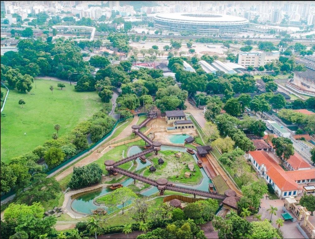 Foto aérea do novo zoo do Rio