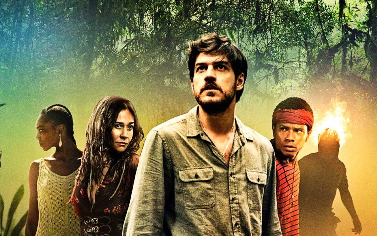 Seis personagens da série se posicionam na foto