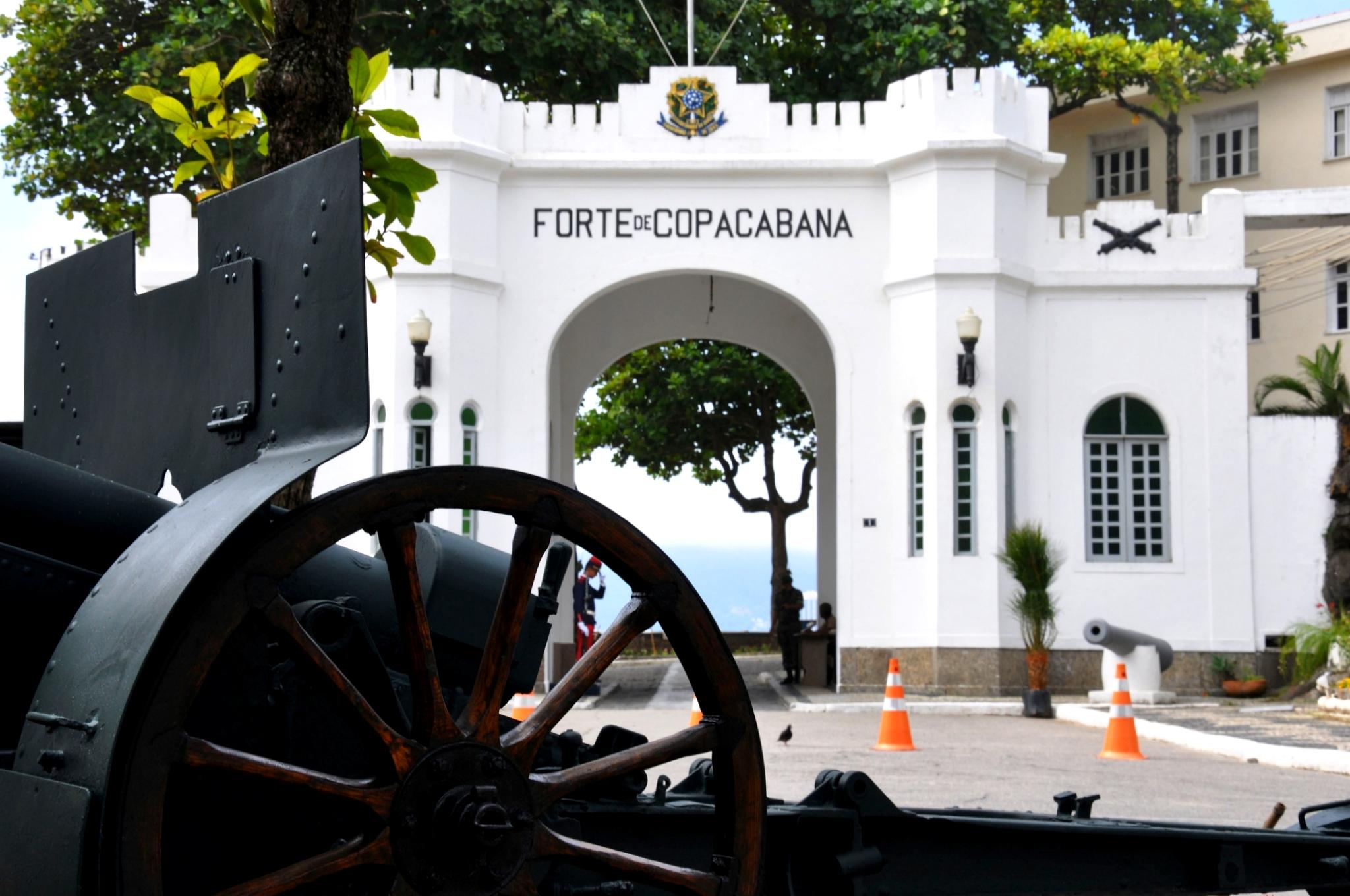 Entrada do forte de copacabana