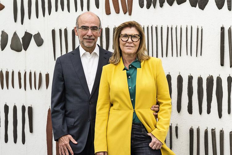 O casal carioca Andrea e José Olympio Pereira: entre os 200 maiores colecionadores de arte do mundo, segundo a publicação americana ARTNews -