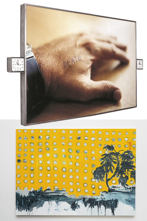 Stereodeath (acima), de Marcos Chaves, e Costela de Adão, de Marina Rheingantz: pela primeira vez em exposição no Rio -
