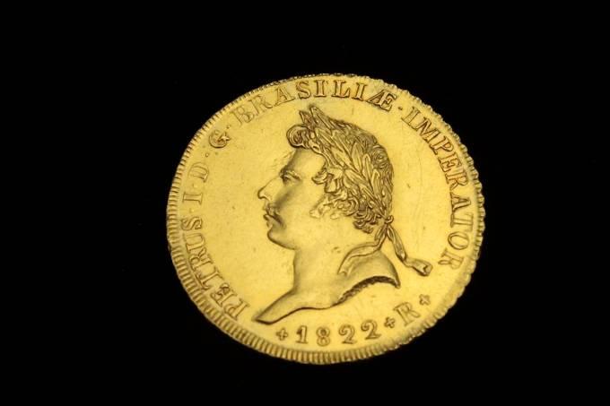 Peça da coroação de D. Pedro, uma das mais raras na numismática brasileira
