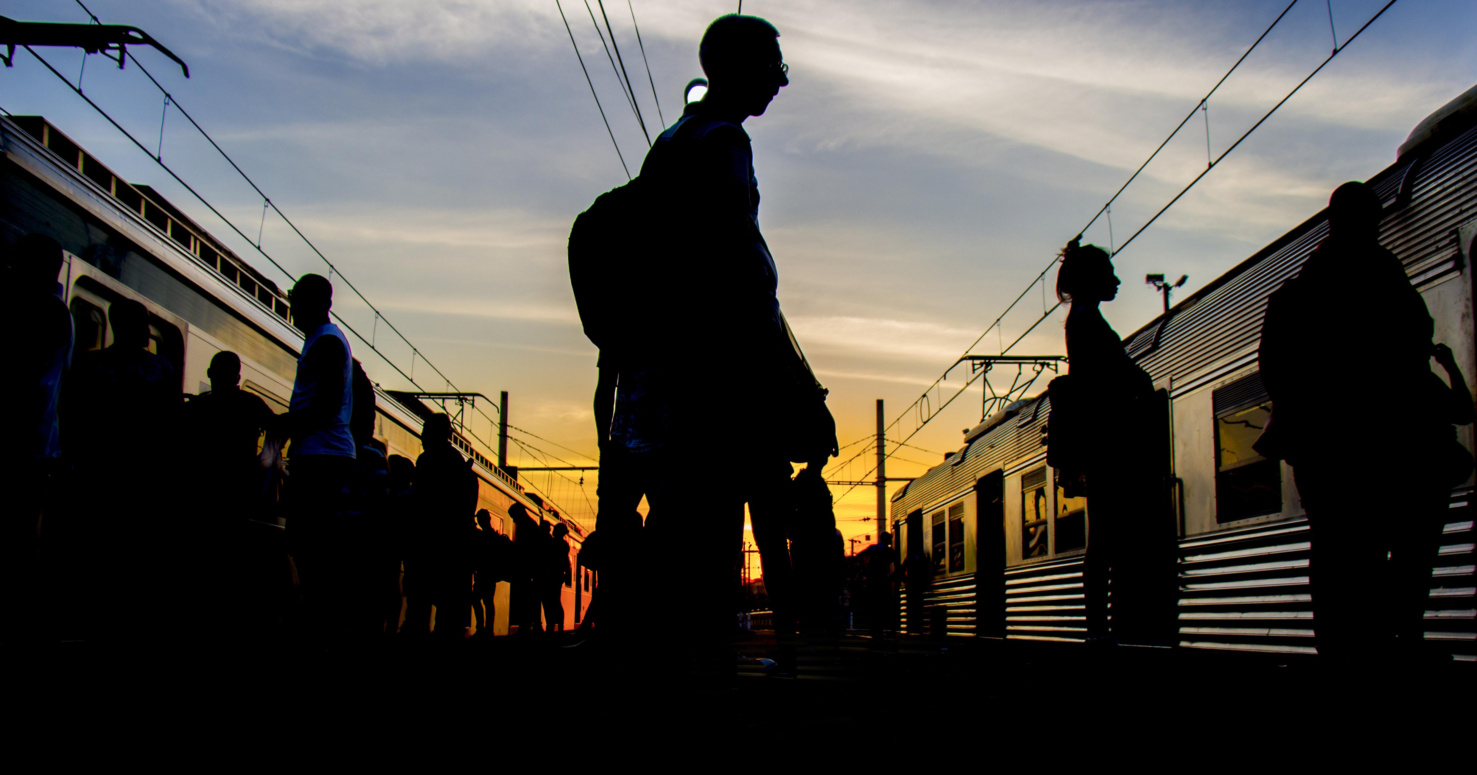 Passageiros na estação de trem Central do Brasil. Rio de Janeiro, 19/10/2017