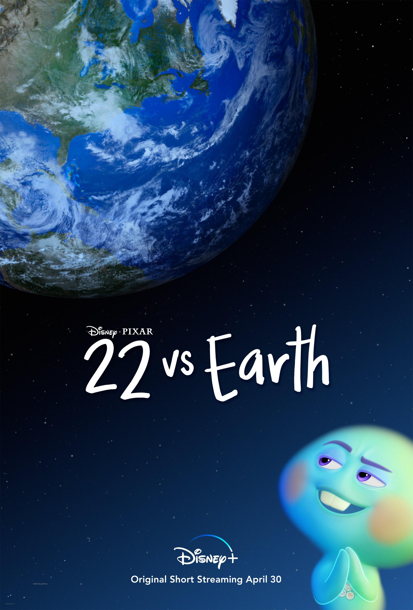 Pôster do curta 22 Contra a Terra mostra a alminha olhando para o planeta