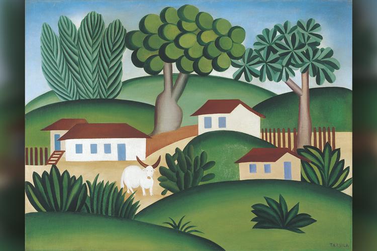 Paisagem com Touro, de Tarsila do Amaral (1925)