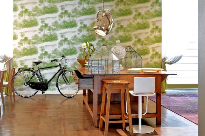 Bicicleta sendo a estrela da decoração