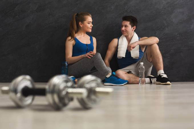 Fitness couple at gym