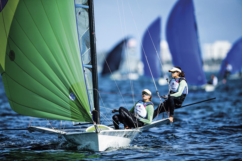 Martine Grael e Kahena Kunze, vela - Novos protocolos e testagens constantes durante os eventos pré-olímpicos realizados em maio na Europa -