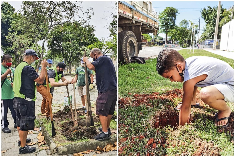 O grupo de voluntários Arboristas Urbanos concentra seus esforços na Zona Norte, onde o déficit verde é maior e favorece o surgimento de ilhas de calor. Parcerias de coletivos com a Fundação Parques e Jardins resultaram no plantio de 400 árvores desde janeiro