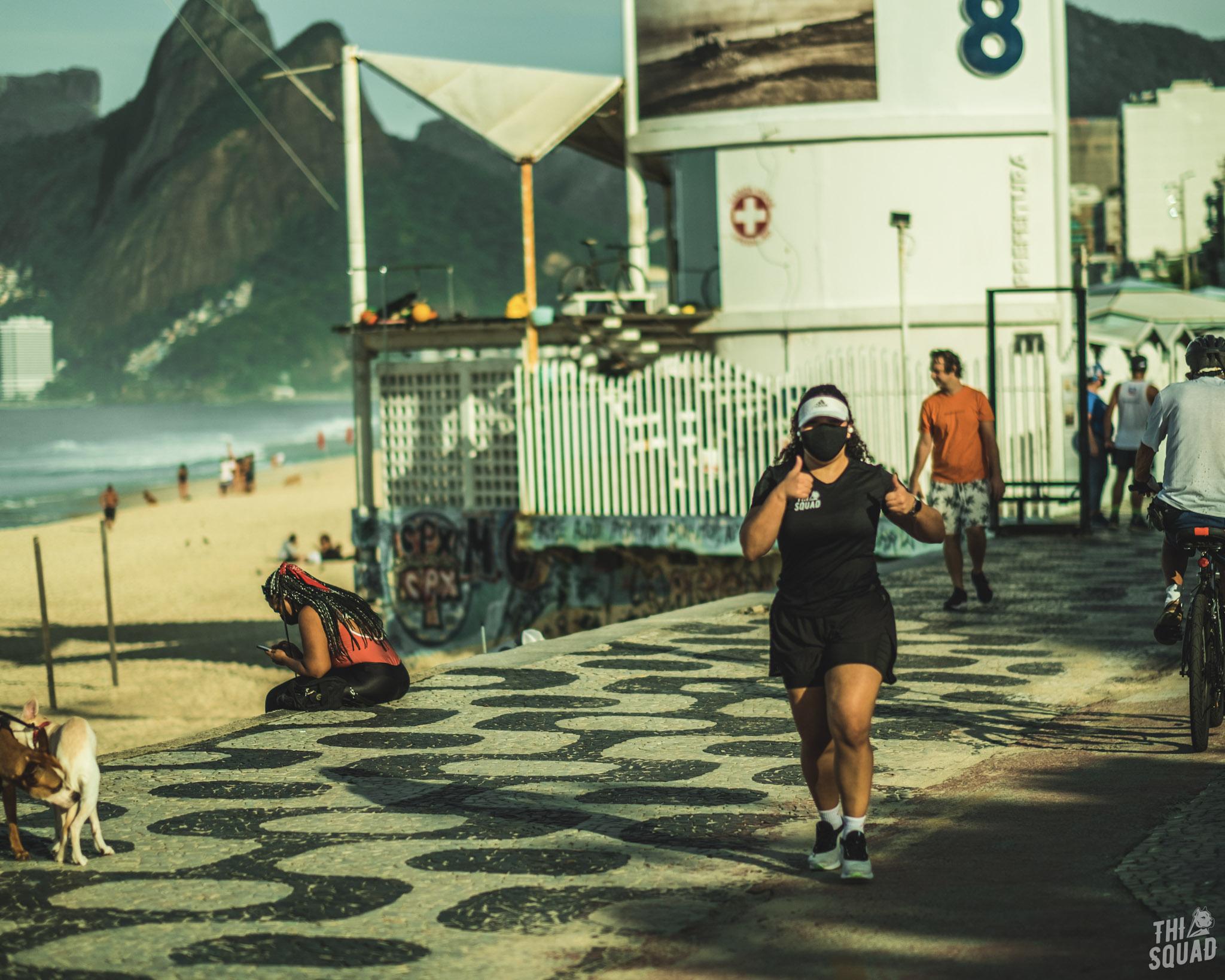 Descansar pós um treino intenso de corrida.