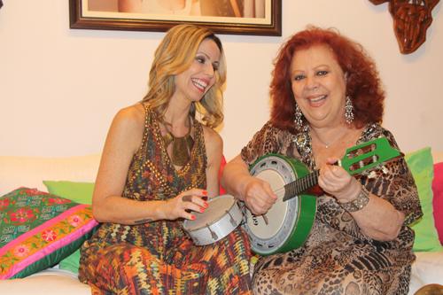 Beth Carvalho e sua sobrinha Lu