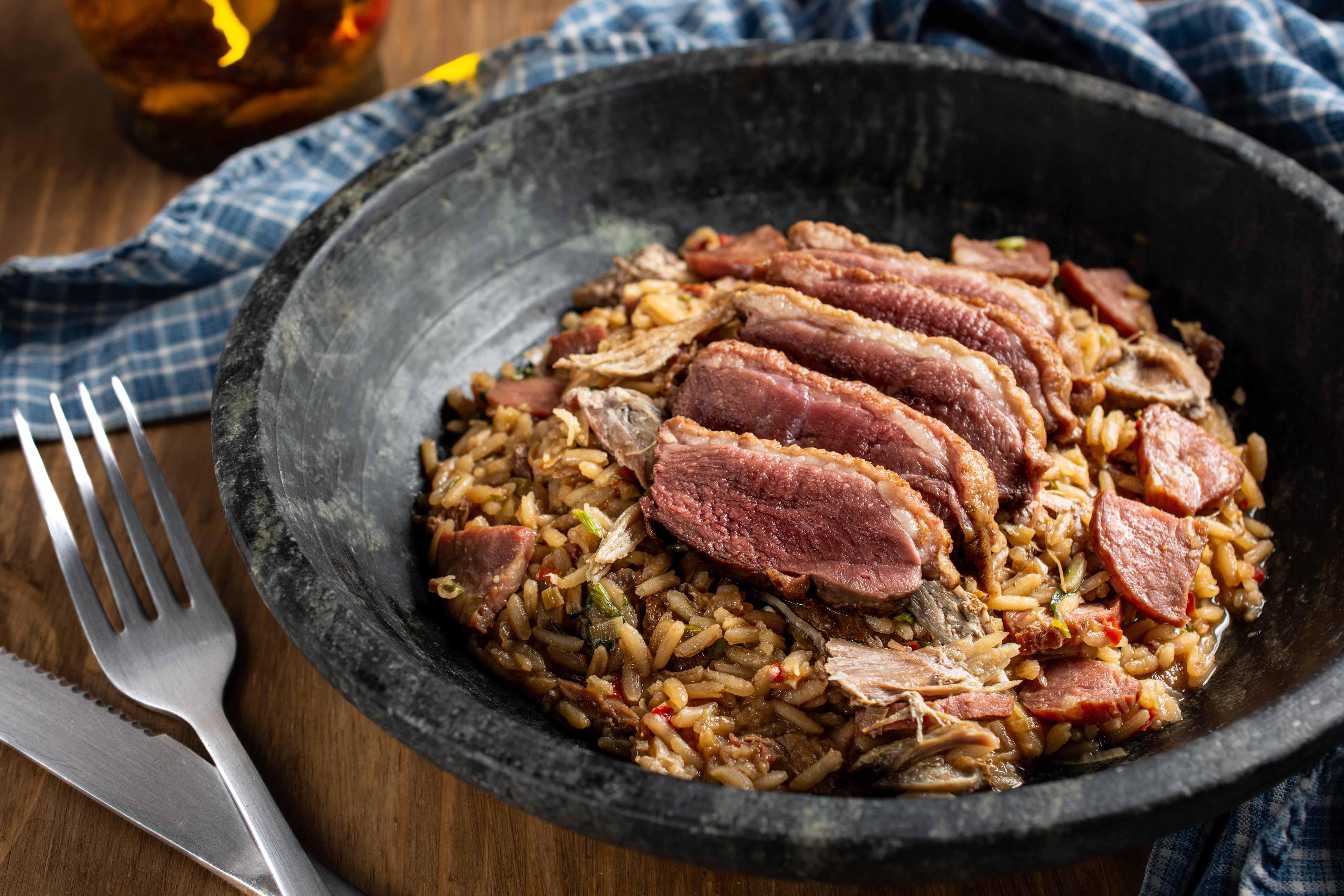 Malu Mello: arroz de pato entre as sugestões
