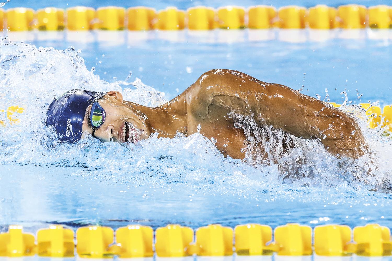 Guilherme Costa, natação - O atleta quebrou o recorde sul-americano nos 400 metros durante a seletiva pré-olímpica realizada em abril, no Rio -