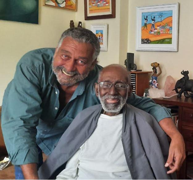 Paulão Sete Cordas e o amigo Nelson Sargento