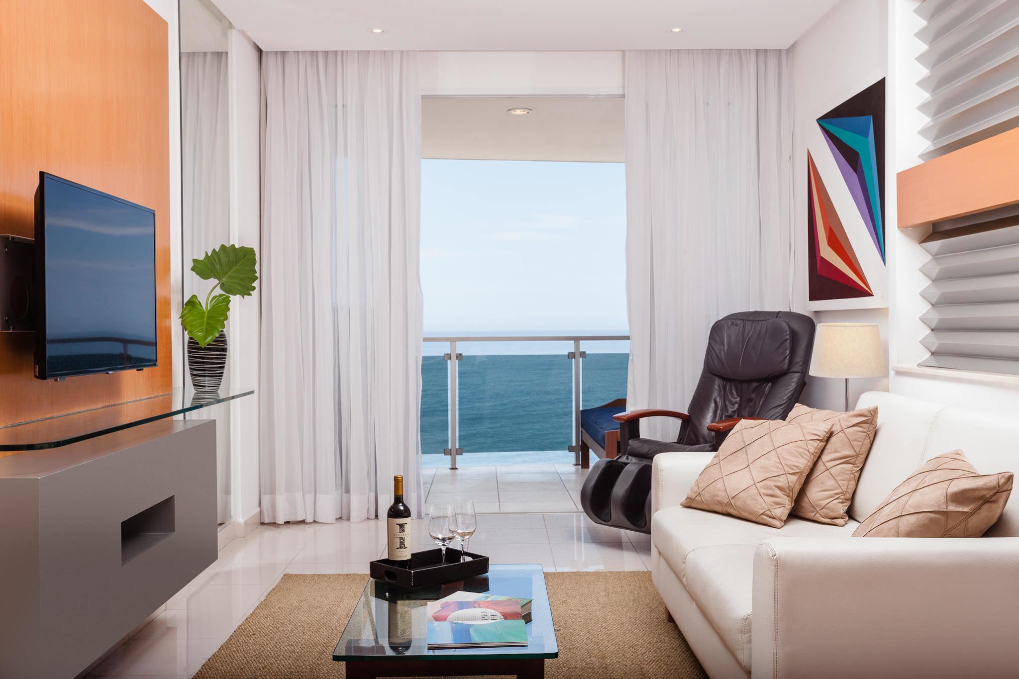 Quarto de hotel com vista pro mar