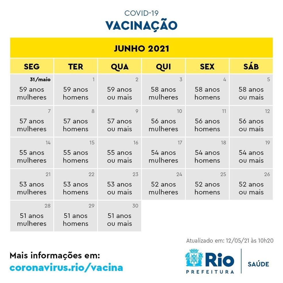 Calendário de imunização de junho