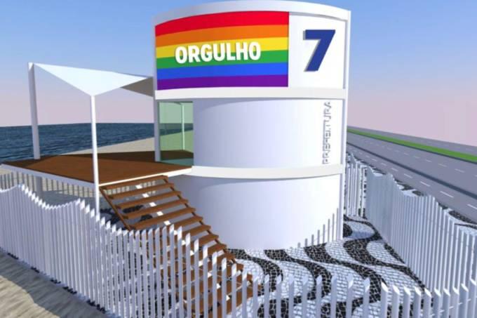 posto salvamento arco-íris