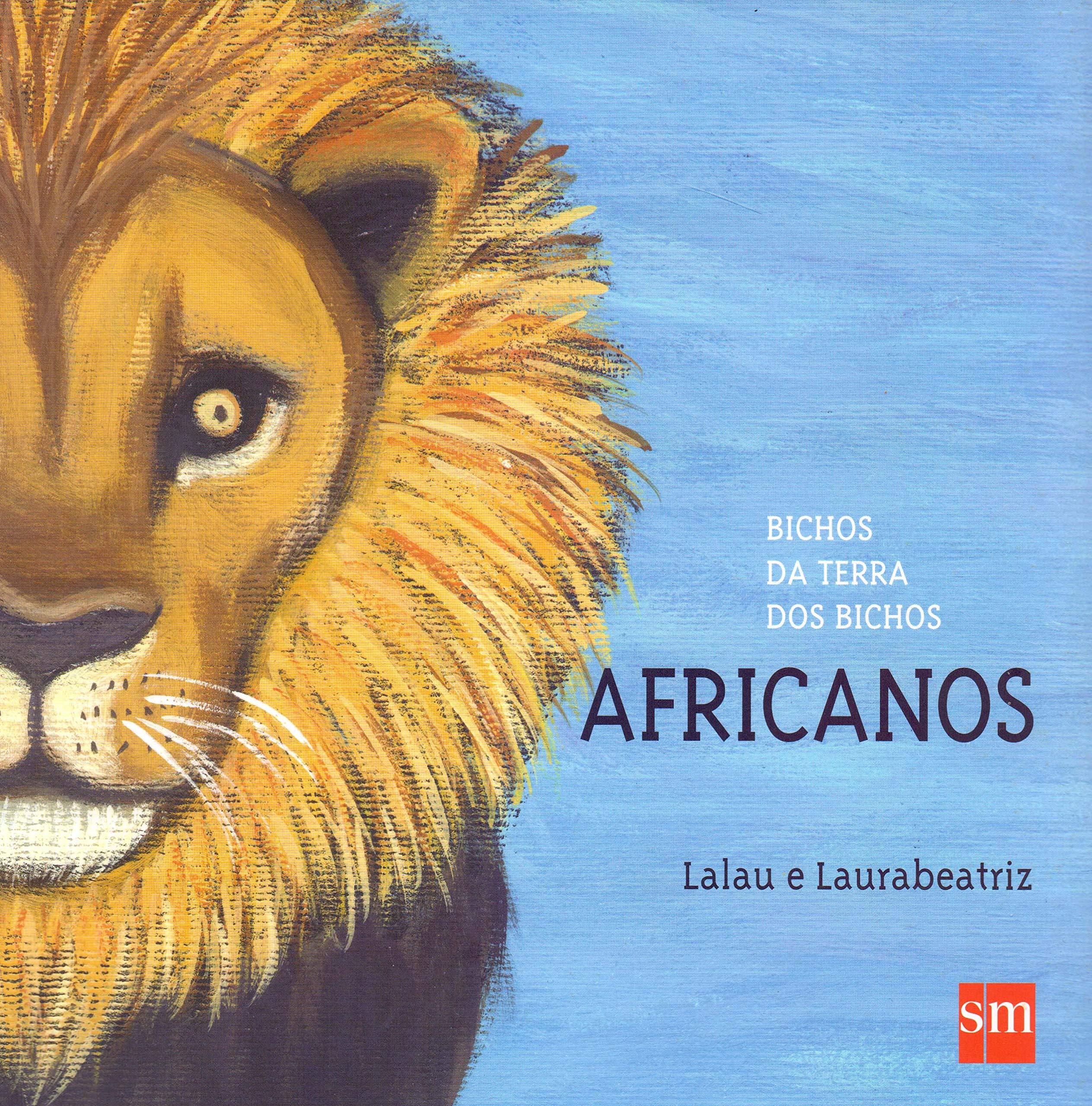 Ilustração de um leão com o texto