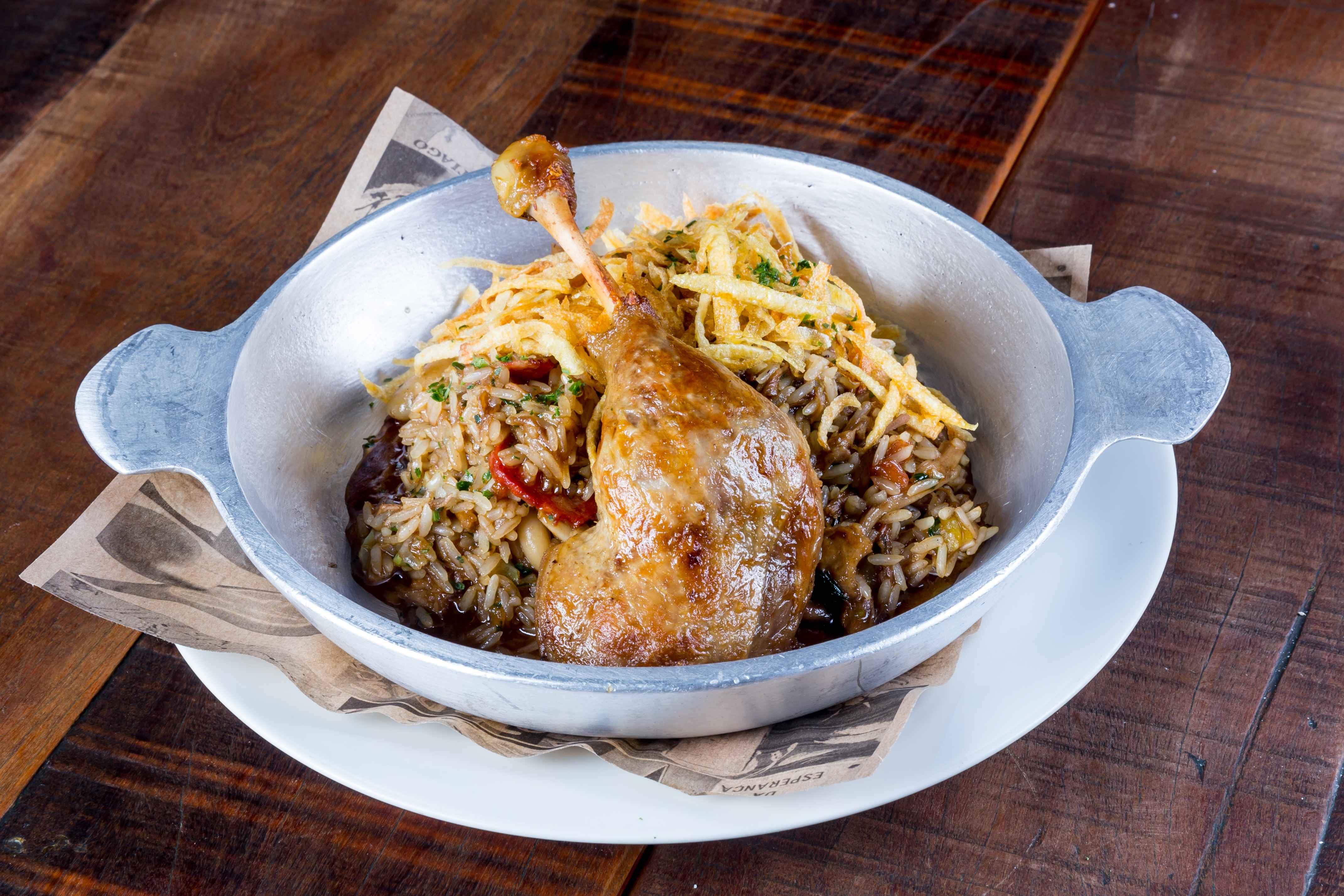 Adega Santiago: arroz de pato